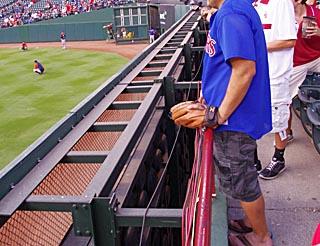 Rangers Ballpark gap in wall