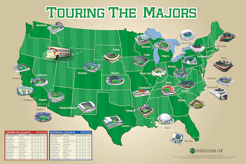 image about Printable Brewers Schedule titled Traveling the Majors Poster